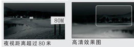 激光夜视摄像机 VES-J80E1效果图