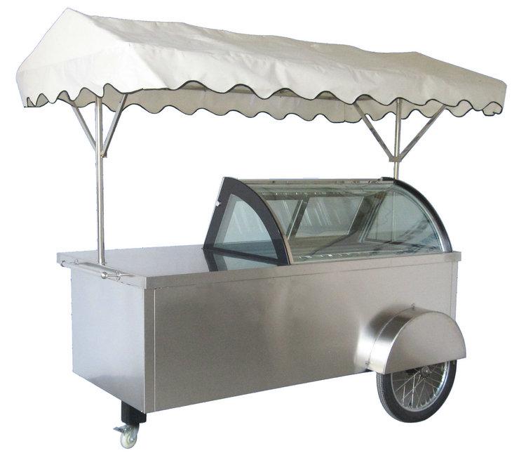 B4款冰淇淋推车展示柜-B4-20 white