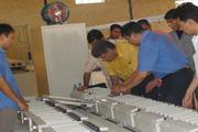 Installing Energy Saving Lamp Tube Aging Line in Iran