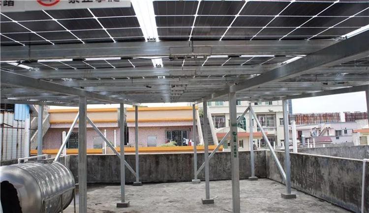 菠菜娱乐场承建的双玻双面发电屋顶光伏电站