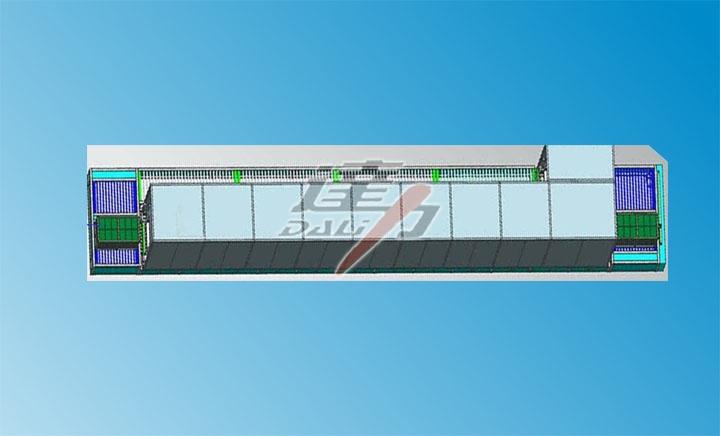DYG-163SD 動力電池隧道式真空烘干線